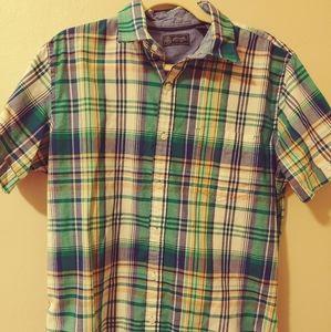 Arrow button down plaid collared shirt